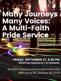 Many Journeys Many Voices: A Multi-Faith Pride Service
